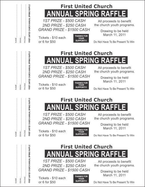 Large raffle ticket templates 2 raffle ticket templates for Template for raffle tickets to print