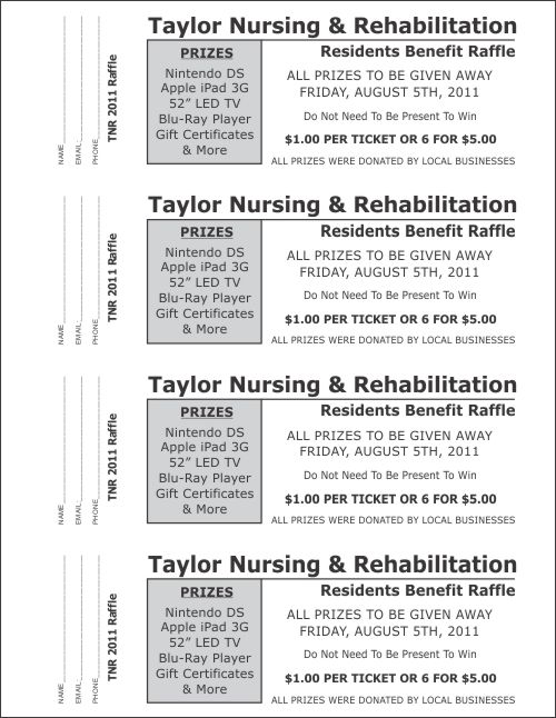 Large Raffle Ticket Templates 3 - Raffle Ticket Templates