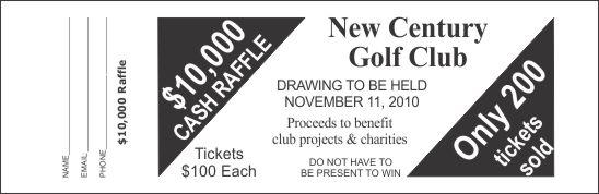 large raffle ticket template 4