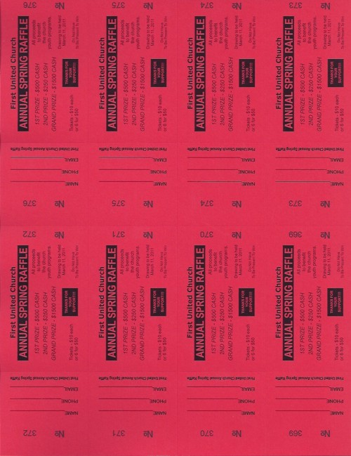order small raffle ticket paper